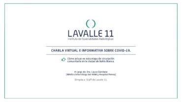 Charlas virtuales informativas sobre el COVID 19